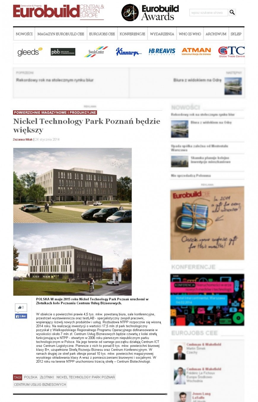 NICKEL TECHNOLOGY PARK POZNAŃ